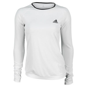 adidas WOMENS TS ENGINEERED LS TEE WHITE/BLACK