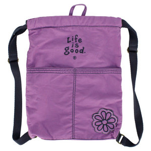 LIFE IS GOOD ESSENTIALS CINCH SACK SOFT PURPLE