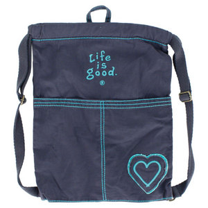 LIFE IS GOOD ESSENTIALS CINCH SACK TRUE BLUE