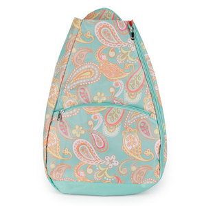 ALL FOR COLOR PAISLEY BREEZE TENNIS BACKPACK