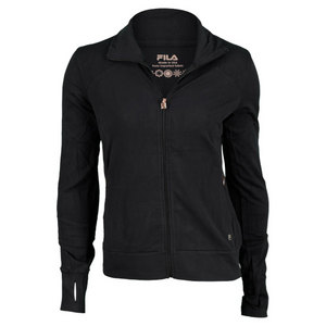 FILA WOMENS SUPPLEX FABRIC JACKET BLACK