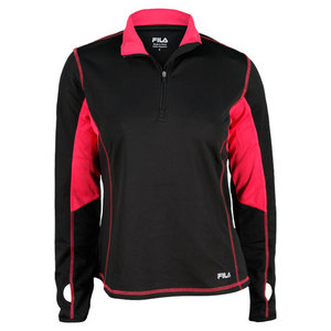 FILA WOMENS PERFORMANCE 1/4 ZIP COVER UP BK