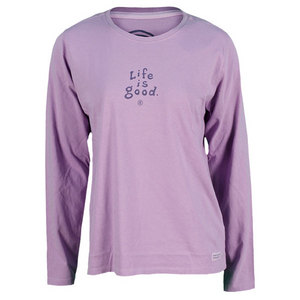 LIFE IS GOOD WOMENS CRUSHER LONG SLEEVE TEE SOFT PURP