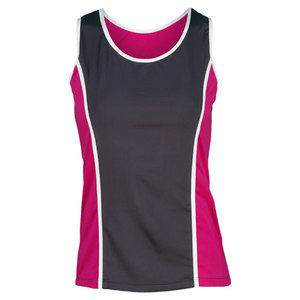 PEACHY TAN WOMENS VARSITY TENNIS TANK
