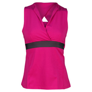PEACHY TAN WOMENS OPEN RACERBACK TANK MAGENTA