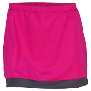 PEACHY TAN WOMENS PULLON SKORT WITH BORDER MAGENTA