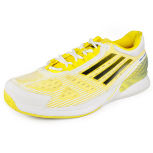 adidas MENS ADIZERO CC FEATHER II WHITE/YELLOW