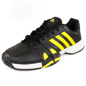 adidas MENS BERCUDA 2 TENNIS SHOES BLACK/YELLOW