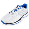 Women`s Adipower Barricade 7.0 Tennis Shoes White/Blue by ADIDAS