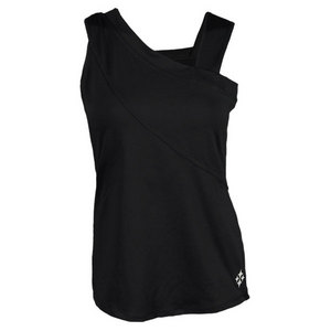 JOFIT WOMENS DRAPED SASH TENNIS TANK BLACK