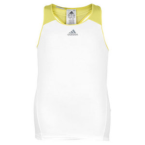 adidas GIRLS ADIZERO TENNIS TANK WHITE/VIVID YL