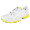 ADIDAS Women`s Adipower Barricade 7.0 Tennis Shoes White/Yellow