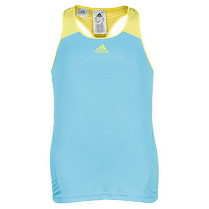 adidas GIRLS ADIZERO TENNIS TANK LT AQUA/YELLOW