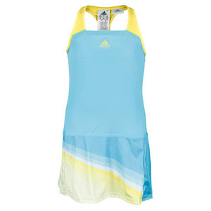 adidas GIRLS ADIZERO TENNIS DRESS LIGHT AQUA/YL