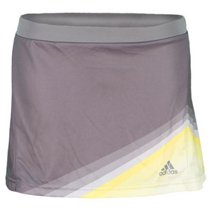 adidas GIRLS ADIZERO TENNIS SKORT TECH GREY/YL