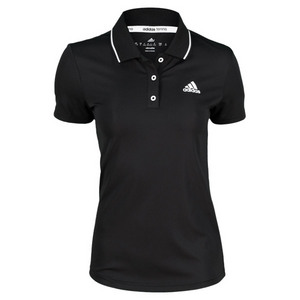 adidas WOMENS TS ENGINEERED POLO BLACK/WHITE
