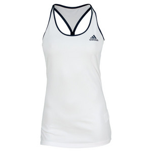 adidas WOMENS TS ENGINEERED TANK WHITE/NAVY