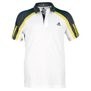 adidas BOYS ADIPOWER BARRICADE TENNIS POLO WHT