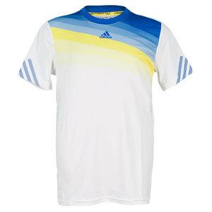 adidas BOYS ADIZERO TENNIS CREW WHITE/PRIME BL