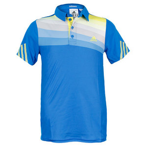adidas BOYS ADIZERO TENNIS POLO PRIME BLUE