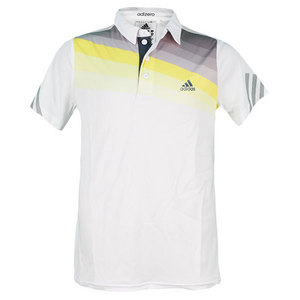 adidas BOYS ADIZERO TENNIS POLO VIVID YELLOW/GY