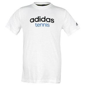 adidas BOYS TENNIS SEQUENCIALS ICON LOGO TEE WH