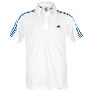 adidas BOYS RESPONSE TRAD POLO WHITE/PRIME BLUE
