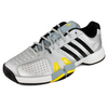 Men`s adipower barricade 7.0 Team 2 Shoes Metallic Silver/Black