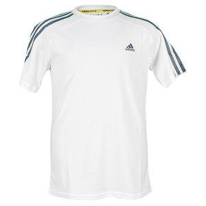 adidas BOYS RESPONSE TENNIS TEE WHITE/DK ONIX