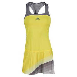 adidas WOMENS ADIZERO TENNIS DRESS YELLOW/GY