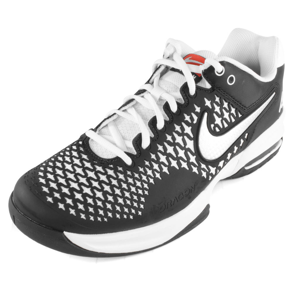 Unisex Air Max Cage Team Tennis Shoes Black And White