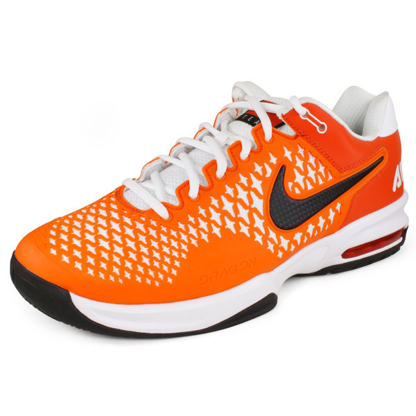 NIKE Unisex Air Max Cage Team Tennis Shoes Orange/White
