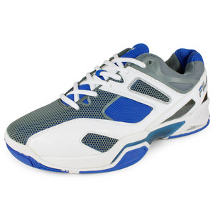 FILA MENS SENTINEL TENNIS SHOES WH/PRINCE BL