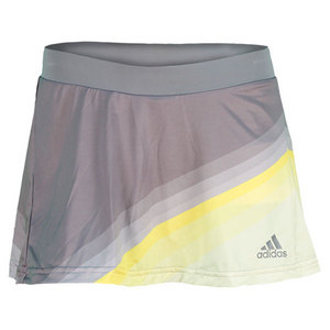 adidas WOMENS ADIZERO TENNIS SKORT GREY/YELLOW
