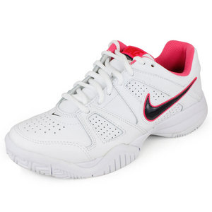 NIKE JUNIORS CITY COURT 7 SHOES WHITE/PINK