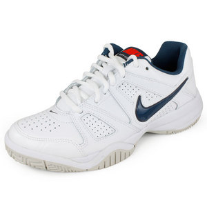 NIKE JUNIORS CITY COURT 7 SHOES WHITE/BLUE