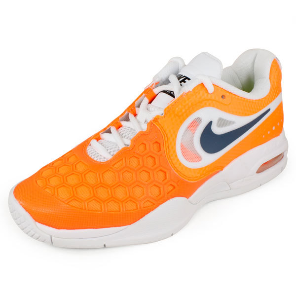 Nike Junior`s Air Max Courtballistec 4.3 Tennis Shoes Total Orange/white