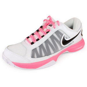NIKE WOMENS ZOOM COURTLITE 3 SHOES WH/PINK