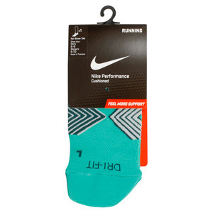 NIKE WOMENS RUNNING DRI FIT CUSH NS SOCK TEAL