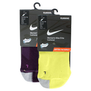 NIKE WOMENS ELITE RUNNING CUSHN NO SHOW SOCKS