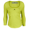 ADIDAS Women`s Stella McCartney Barricade Long Sleeve Tennis Top Running Yellow