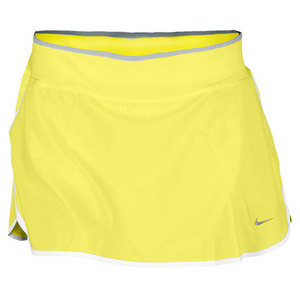 NIKE WOMENS RIVAL STRETCH WOVEN SKIRT YELLOW