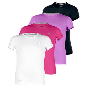 NIKE GIRLS SHORT SLEEVE RUNNING CREW