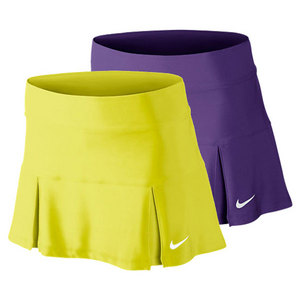 NIKE WOMENS FOUR PLEATED KNIT 14.17 IN SKIRT