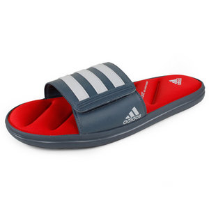 adidas MENS ZEITFREI SLIDE FF GREY/RED
