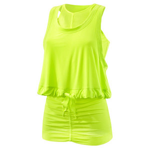 adidas WOMENS PERF TENNIS TANK RUNNING YELLOW