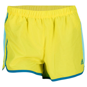 adidas WOMENS RUNNING AKTIV M10 SHORT YELLOW