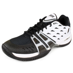 PRINCE MENS T-24 BLACK/WHITE/SILV TENNIS SHOES