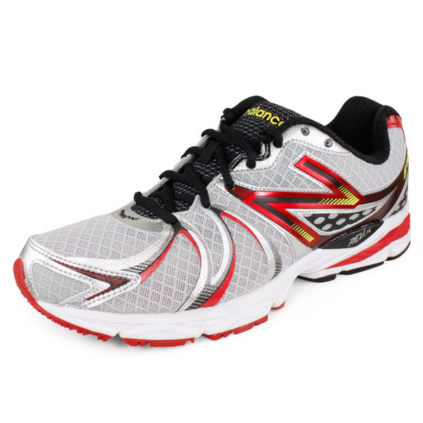 Men's 870 D Width Running Shoes Silver/Red