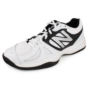 NEW BALANCE MENS 696 D WIDTH TENNIS SHOES WHITE/SILV